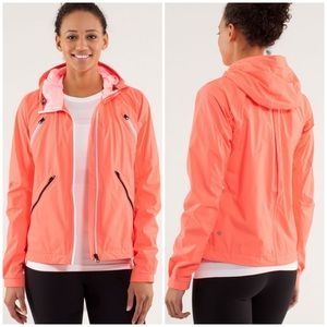 Lululemon Bleached Coral Pop Orange Rise And Shine Jacket